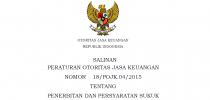 Salinan Peraturan Otoritas Jasa Keuangan Nomor 18/POJK.04/2015 Tentang Penerbitan Dan Persyaratan Sukuk