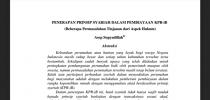 Penerapan Prinsip Syariah Dalam Pembiayaan KPR-iB